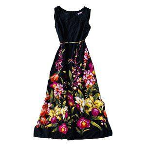 Vintage Garden Maxi Dress